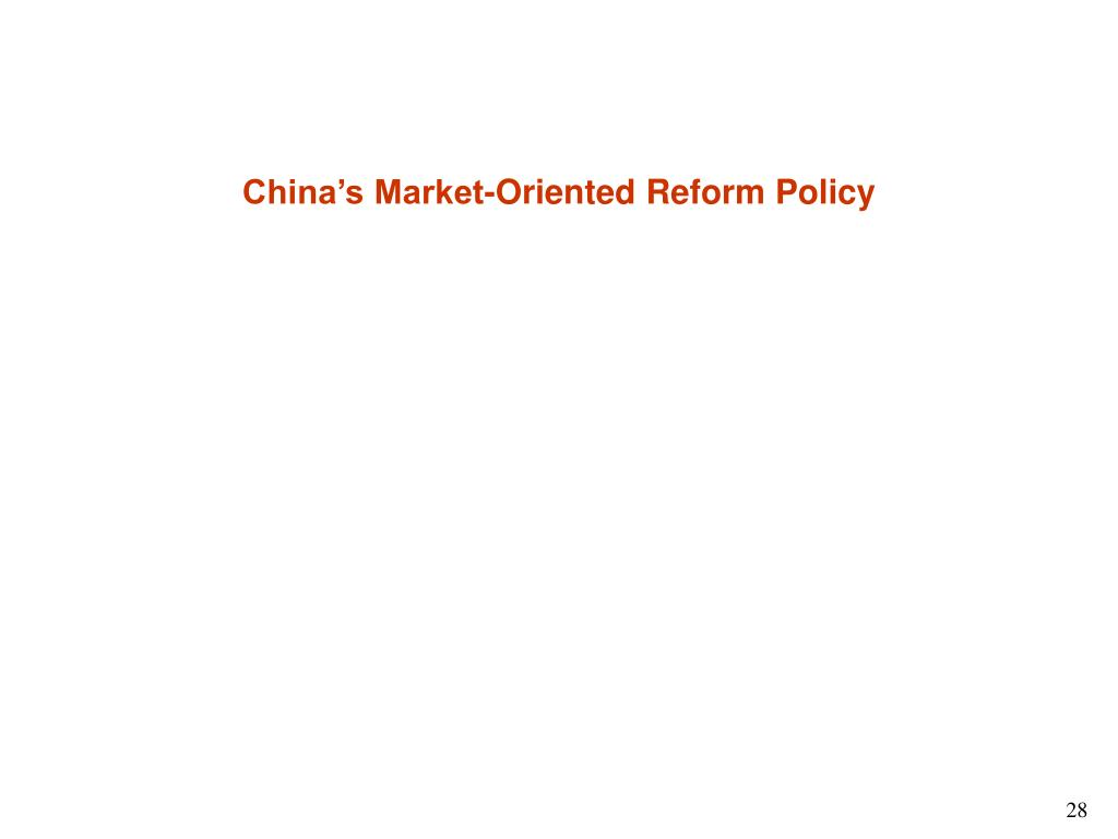 China's Market-Oriented Reform Policy