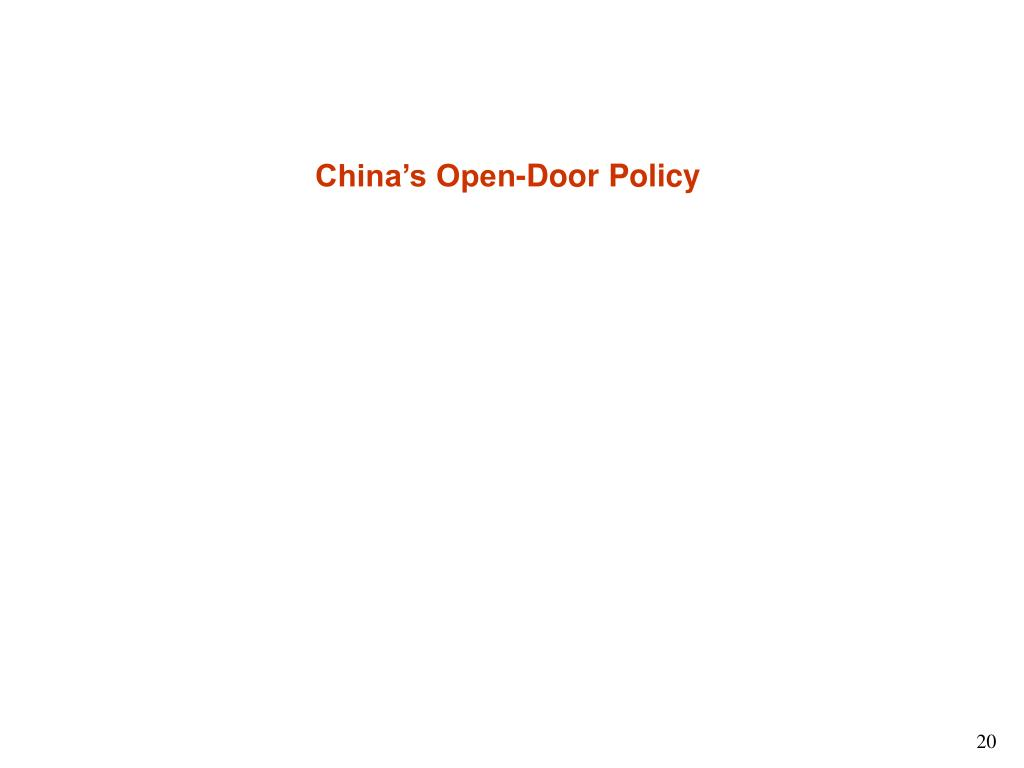 China's Open-Door Policy