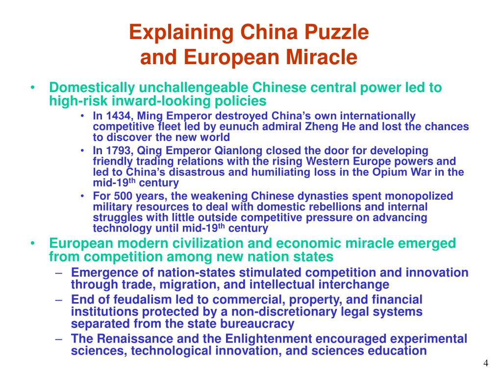 Explaining China Puzzle