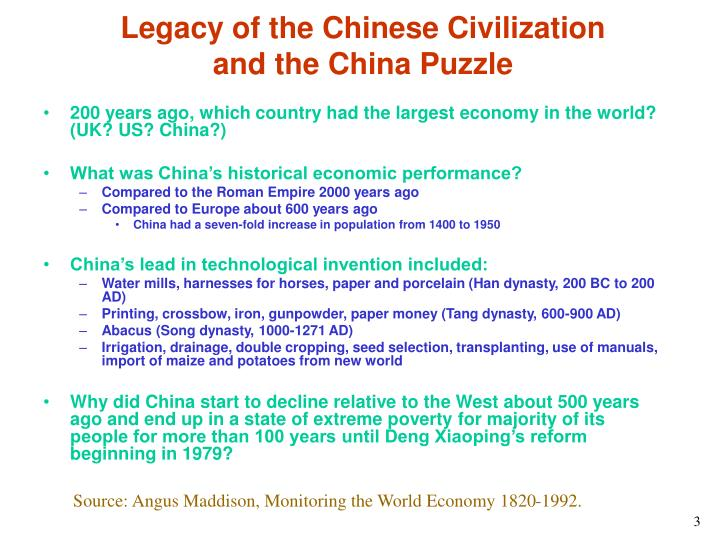 Legacy of the chinese civilization and the china puzzle l.jpg
