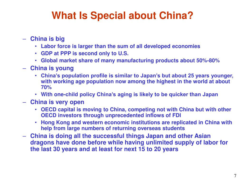 What Is Special about China?