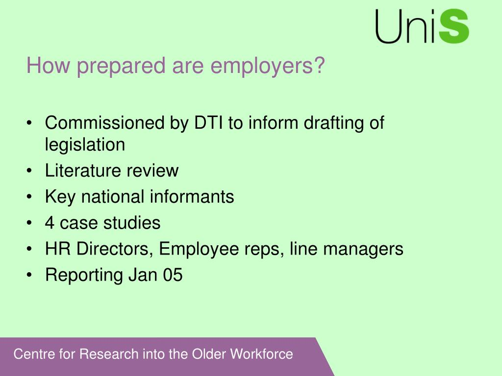 How prepared are employers?