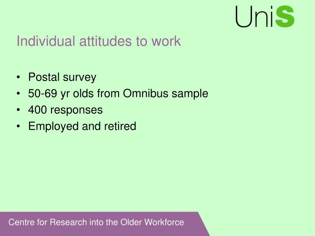 Individual attitudes to work