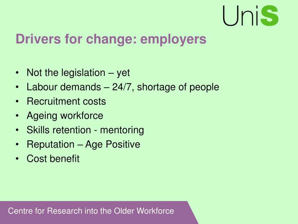 Drivers for change: employers