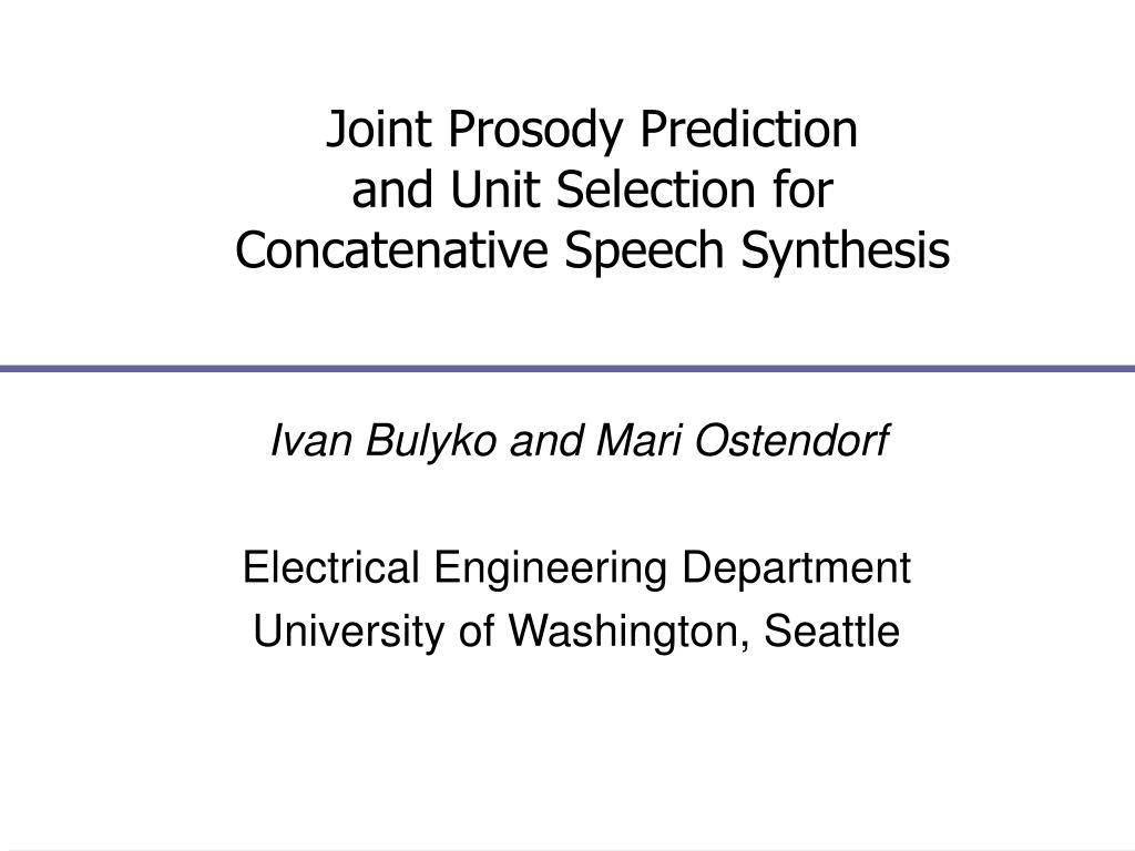 Joint Prosody Prediction