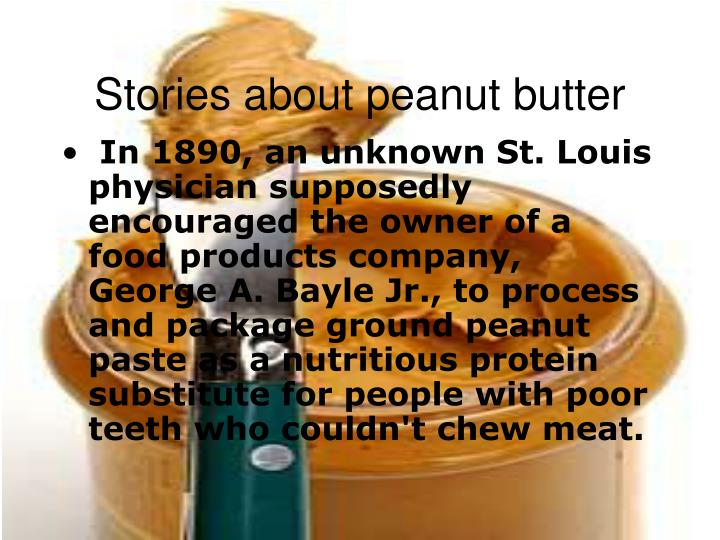 Stories about peanut butter