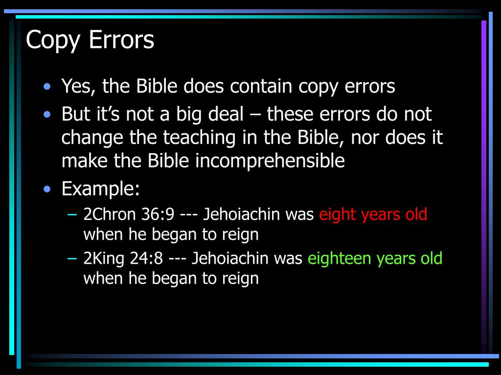 Copy Errors