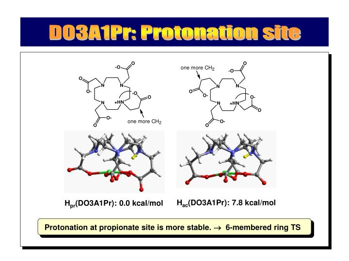 DO3A1Pr: Protonation site