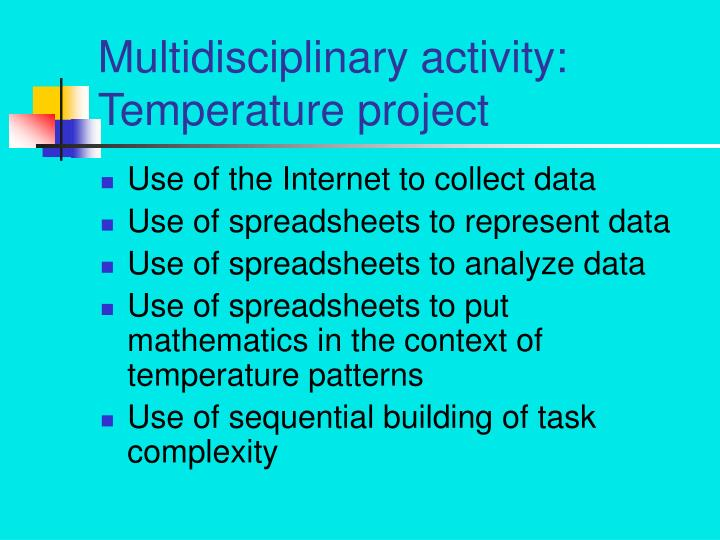 Multidisciplinary activity: