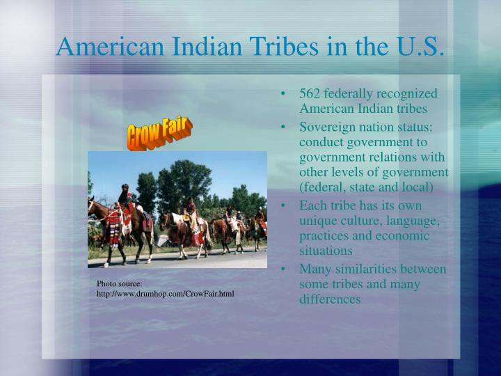 American indian tribes in the u s