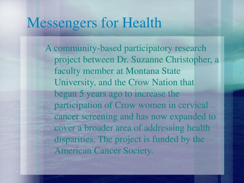 Messengers for Health