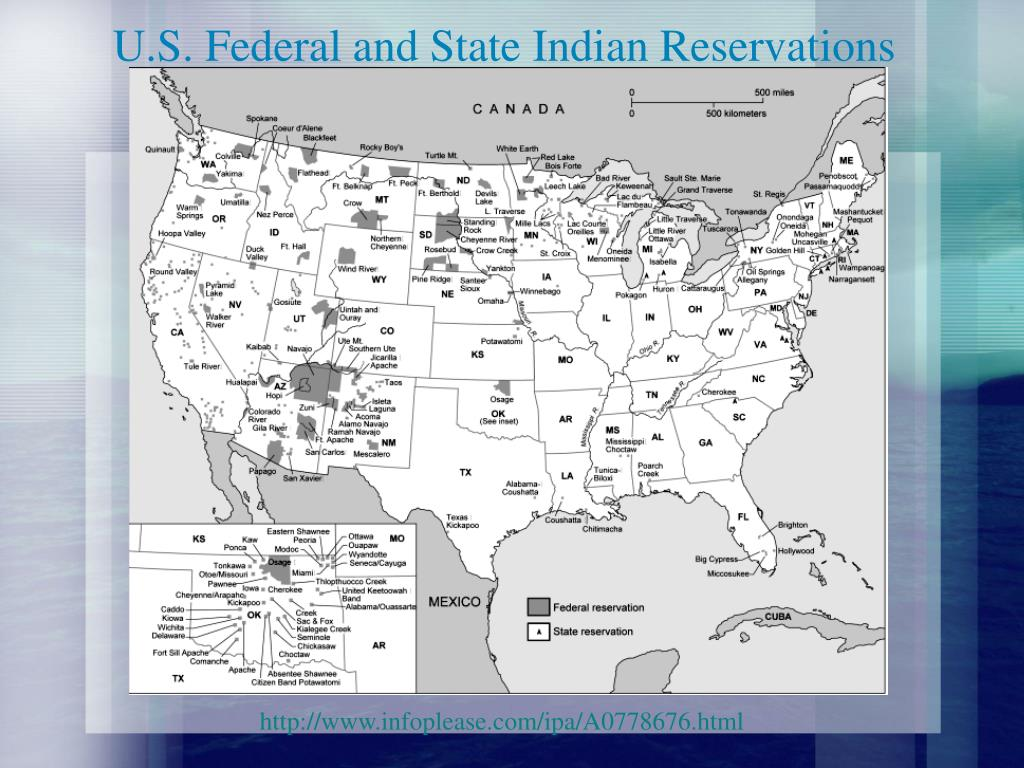 U.S. Federal and State Indian Reservations