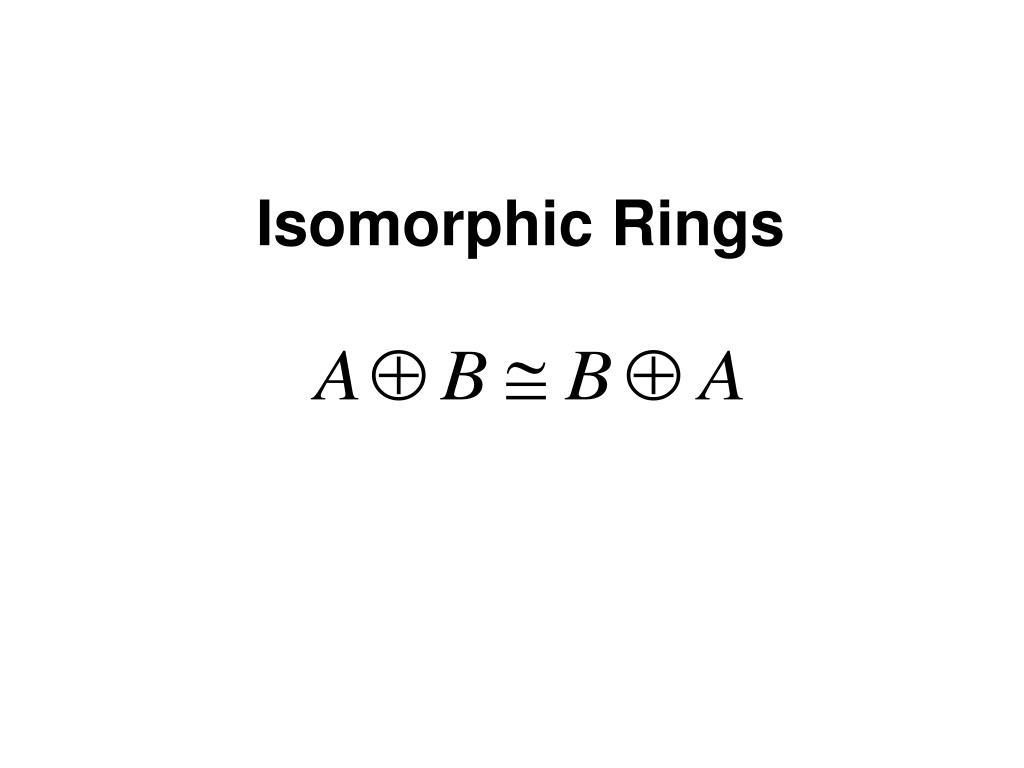 Isomorphic Rings