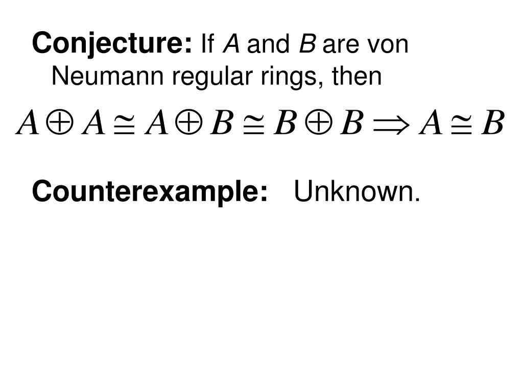 Conjecture: