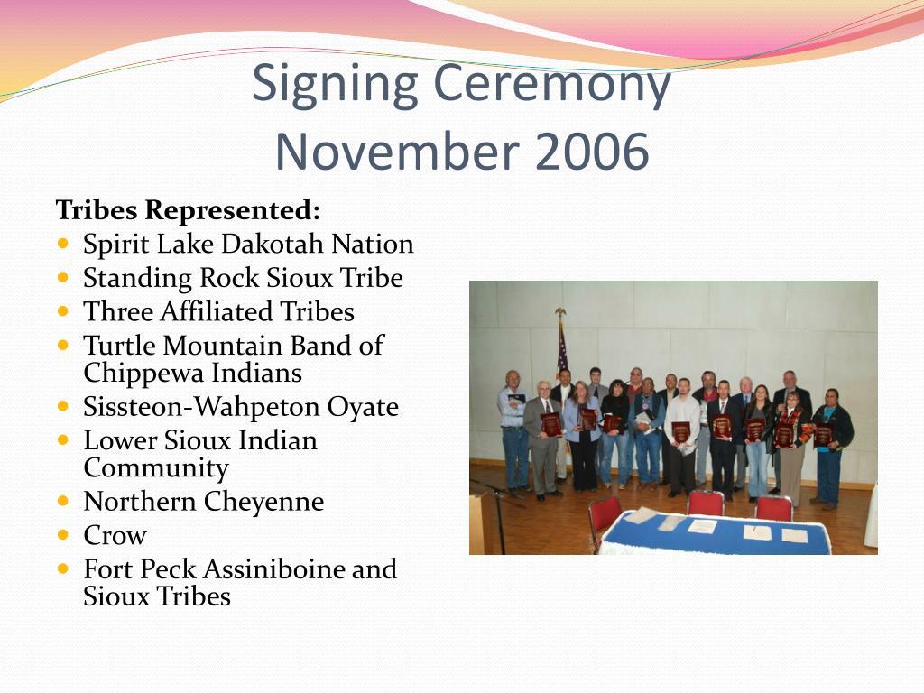 Signing Ceremony