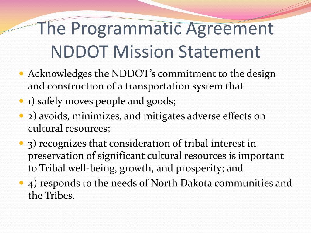 The Programmatic Agreement