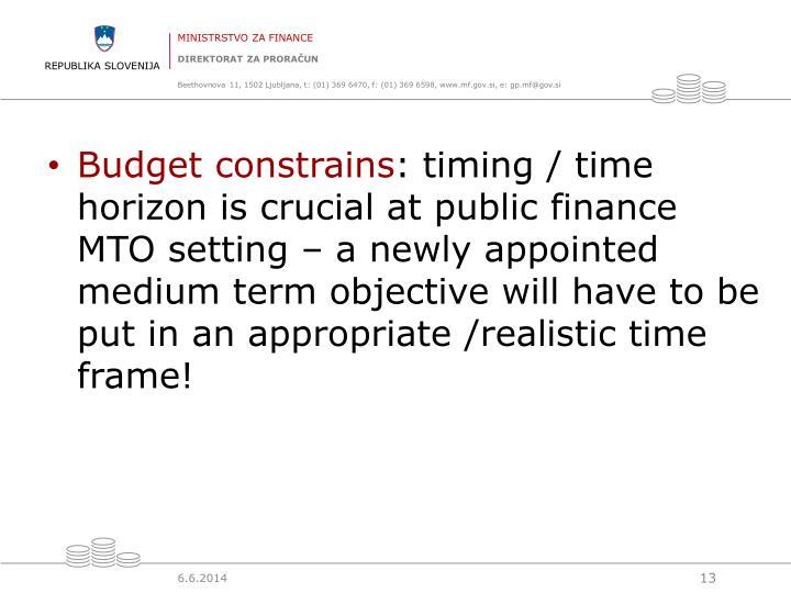Budget constrains