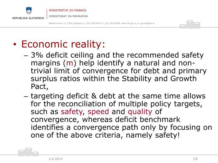 Economic reality: