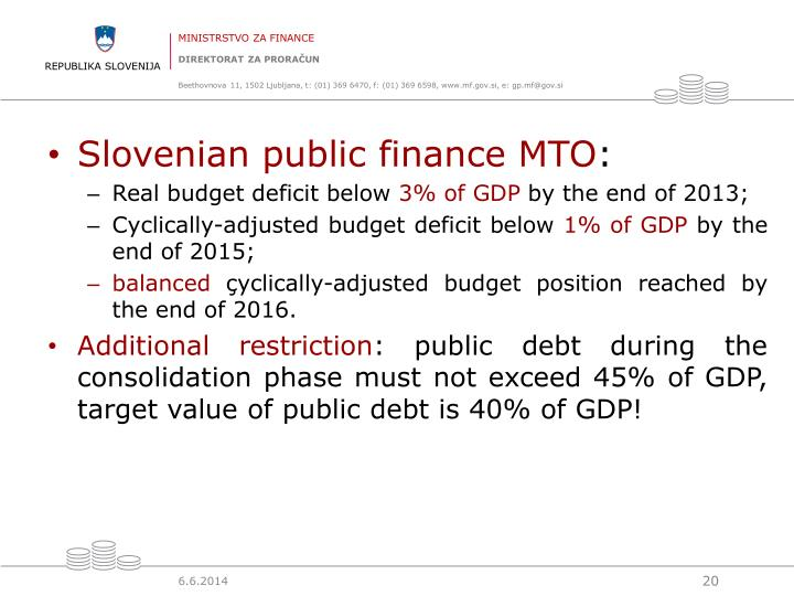 Slovenian public finance MTO