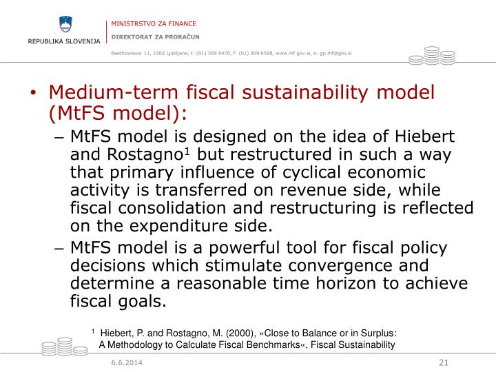 Medium-term fiscal sustainability model (MtFS model)