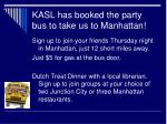 kasl has booked the party bus to take us to manhattan