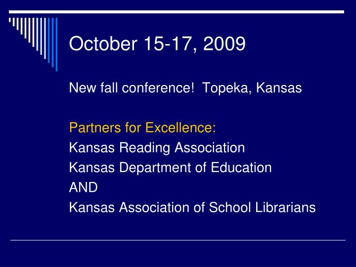 October 15-17, 2009