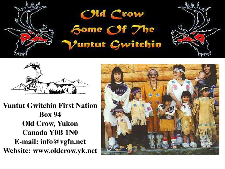 Vuntut Gwitchin First Nation