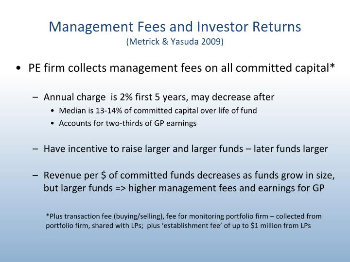 Management Fees and Investor Returns