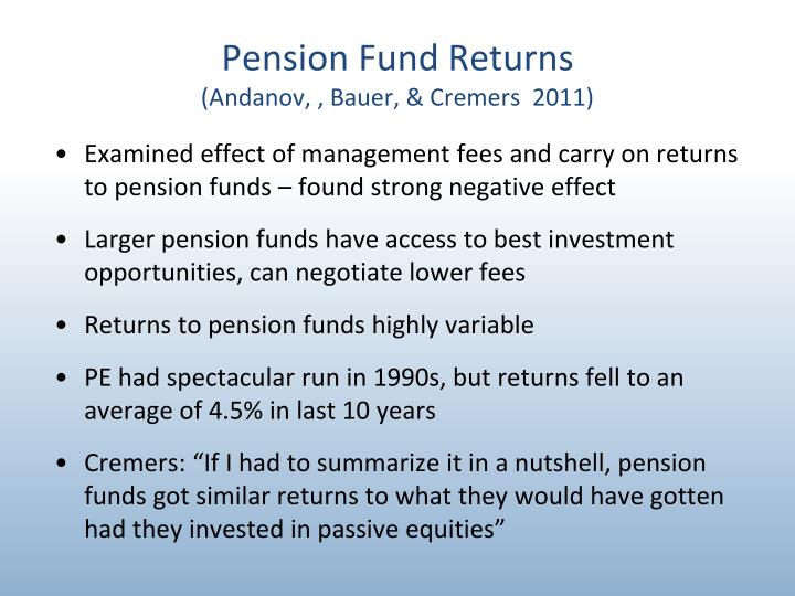 Pension Fund Returns
