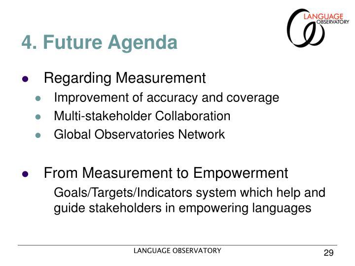 4. Future Agenda