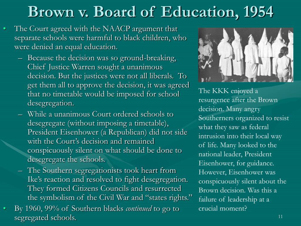Brown v. Board of Education, 1954