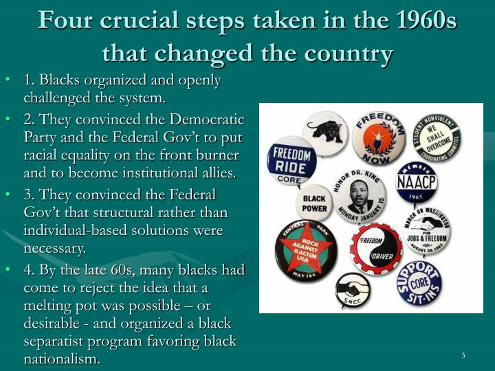 Four crucial steps taken in the 1960s that changed the country l.jpg