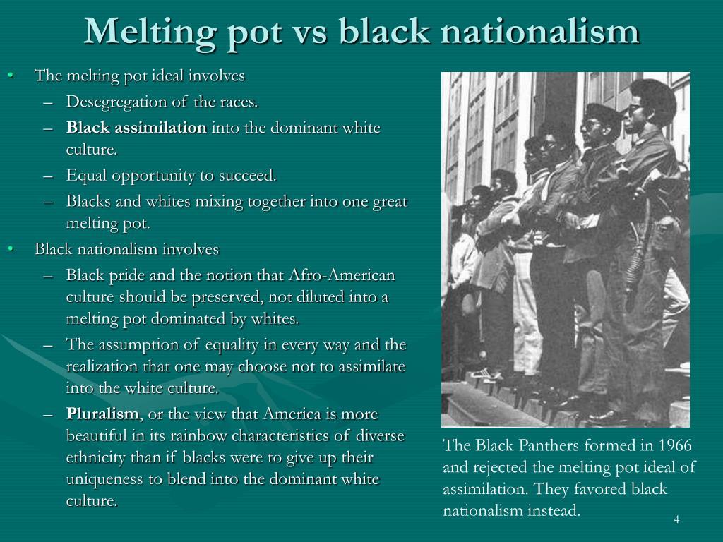 Melting pot vs black nationalism