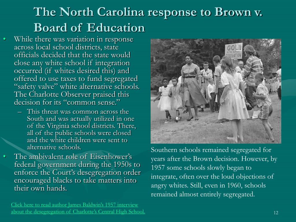 The North Carolina response to Brown v. Board of Education