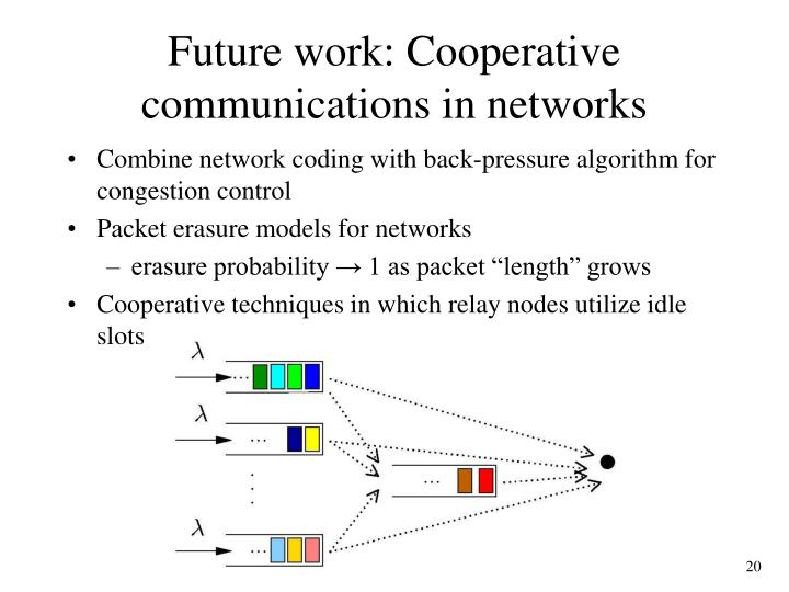 Future work: Cooperative communications in networks
