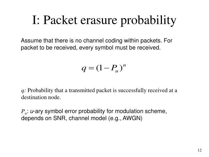 I: Packet erasure probability