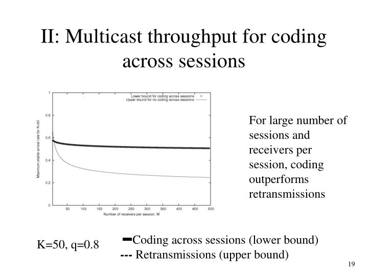 Coding across sessions (lower bound)