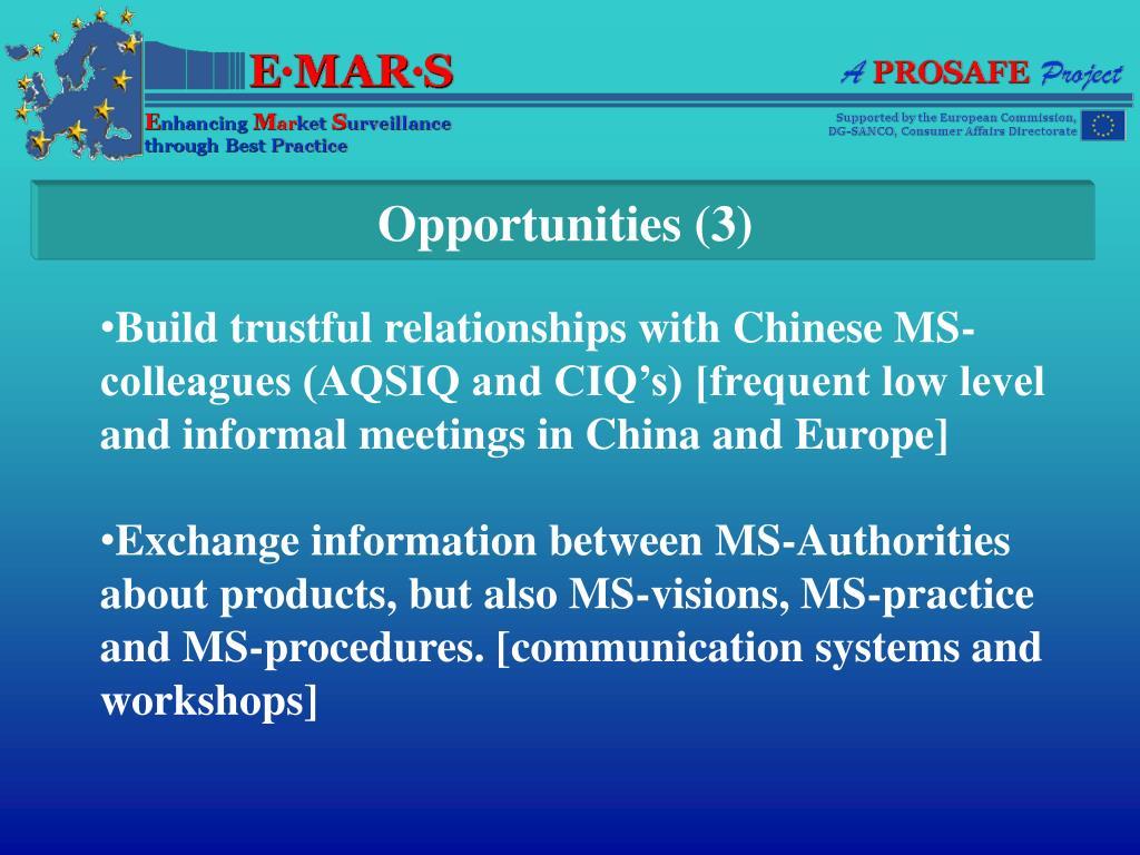 Opportunities (3)