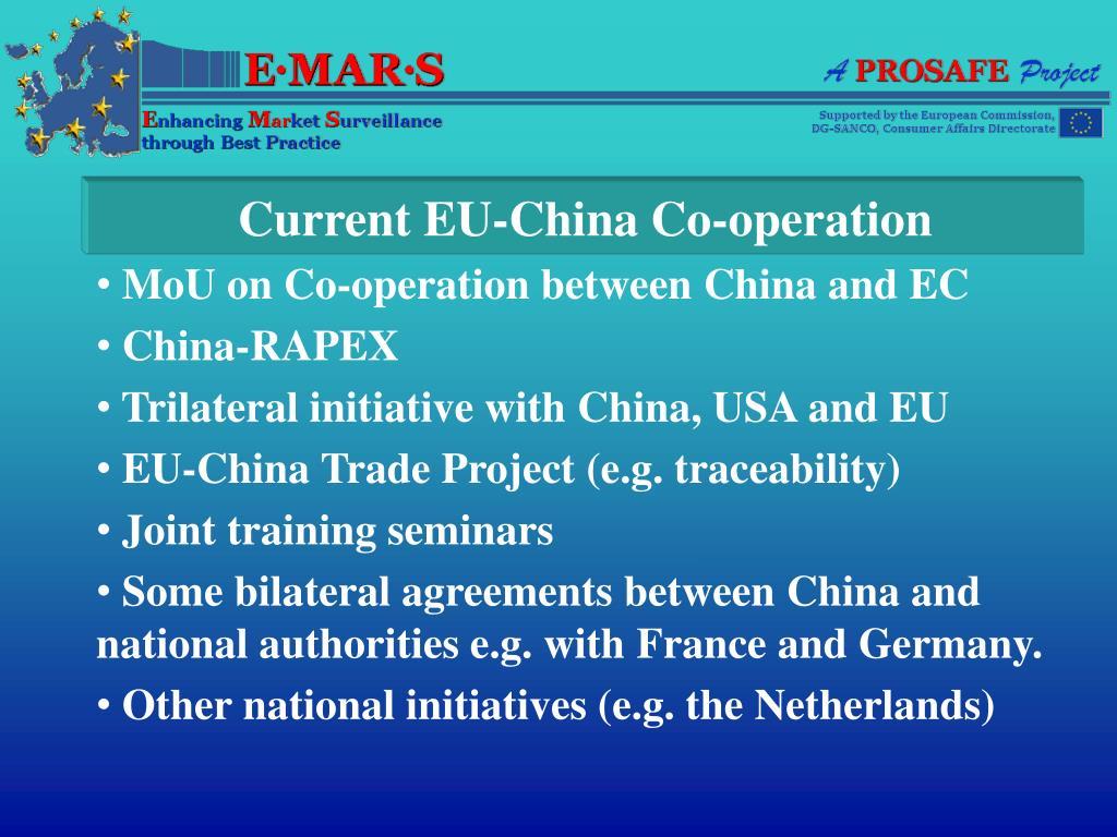 Current EU-China Co-operation