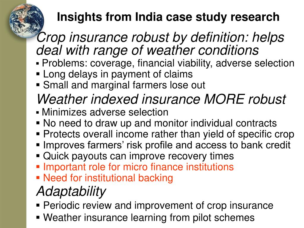 Insights from India case study research