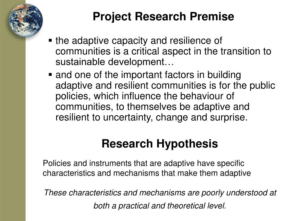 Project Research Premise