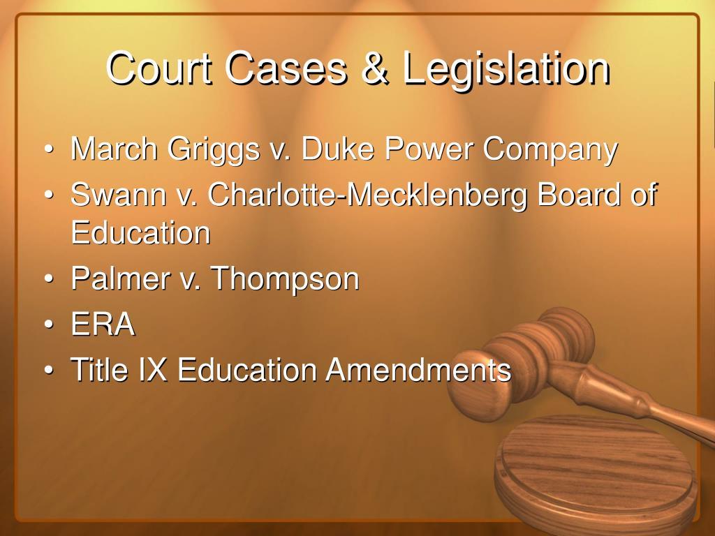 Court Cases & Legislation
