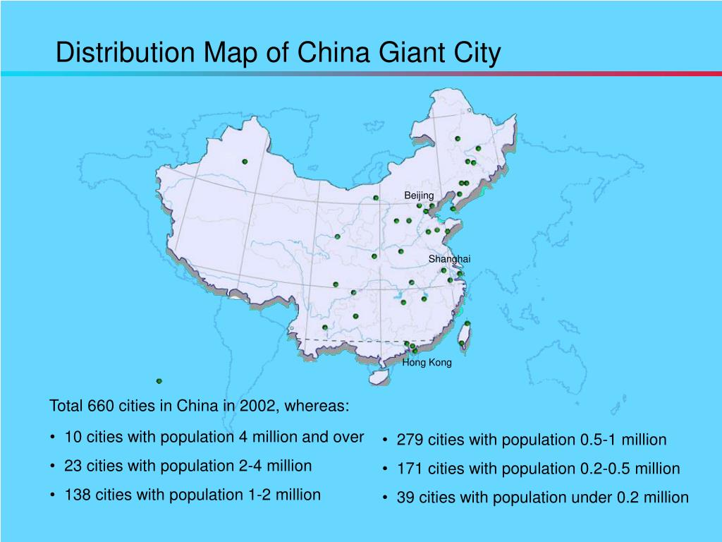 Distribution Map of China Giant City