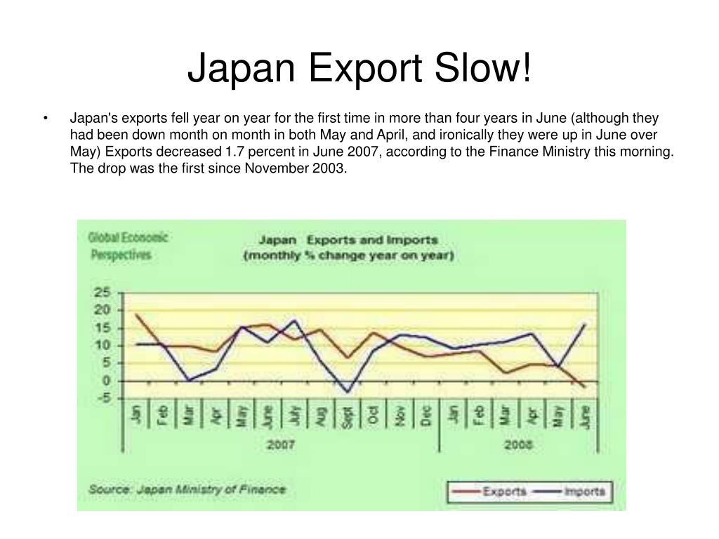 Japan Export Slow!