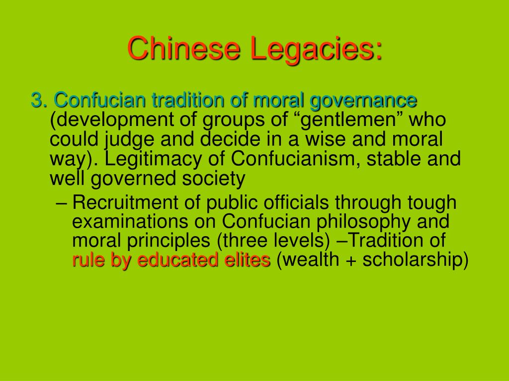 Chinese Legacies: