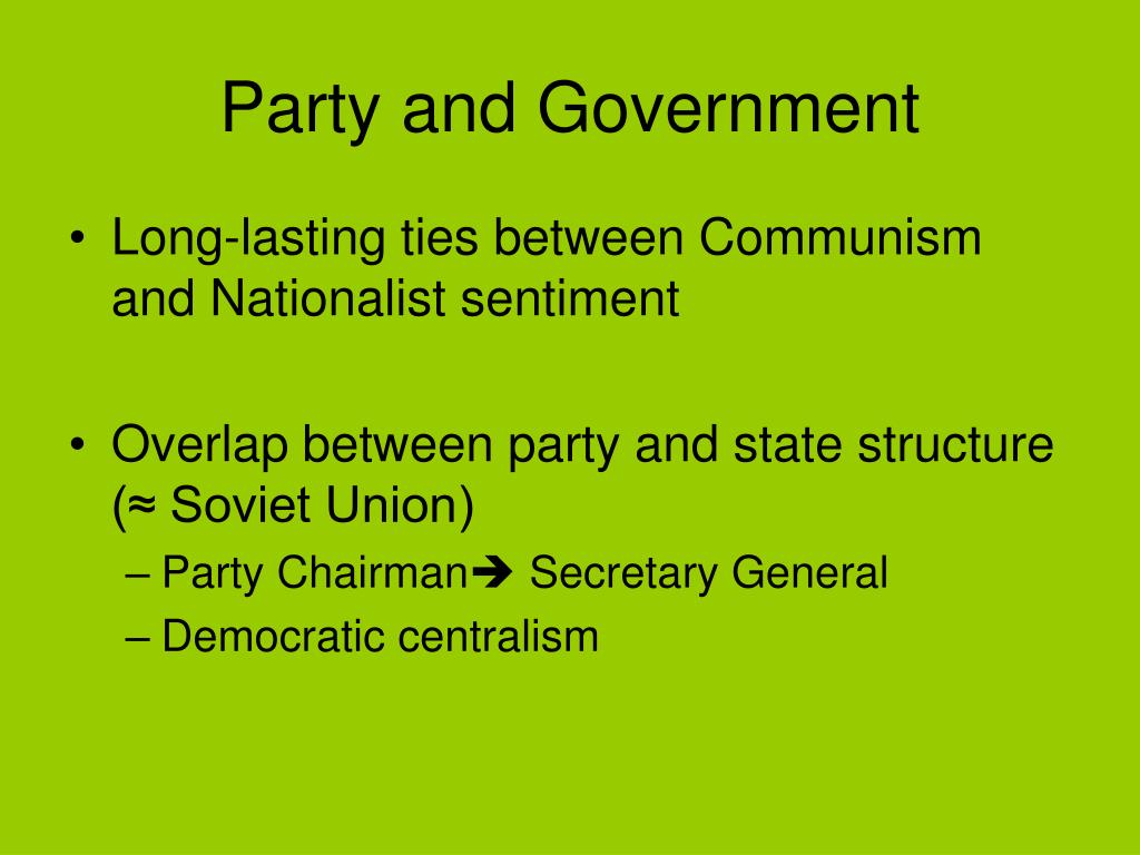 Party and Government