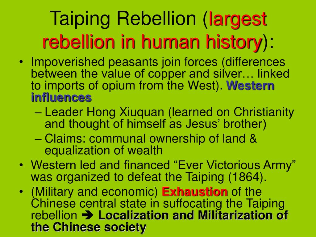 Taiping Rebellion (