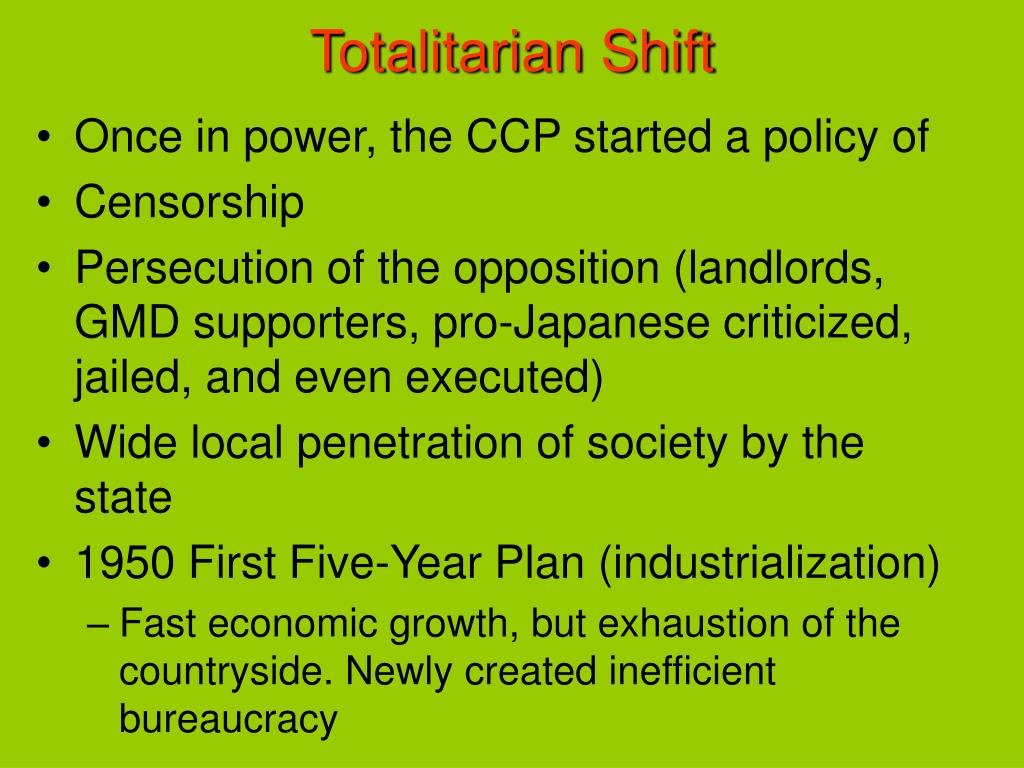 Totalitarian Shift