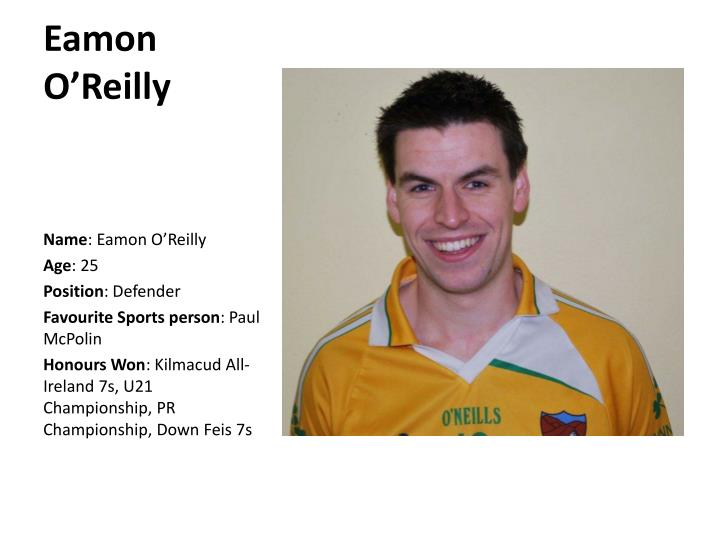Eamon O'Reilly