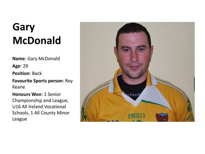 Gary McDonald